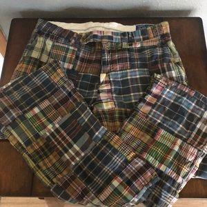 Ralph Lauren men's Madras patch pants 33/32